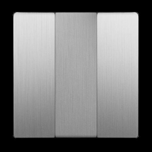 Набор клавиш для выключателя трехклавишного WL09-SW-3G-CP серебряный рифленый