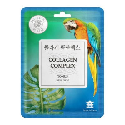 Mi-Ri-Ne Collagen Complex Тканевая маска для лица Тонизирующая коллагеновым комплексом 23 г