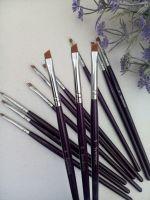 Кисть Synthetic для дизайна (синтетика) синяя ручка № 5