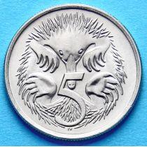 Монета Австралии 5 центов 1966-1983 год. Ехидна