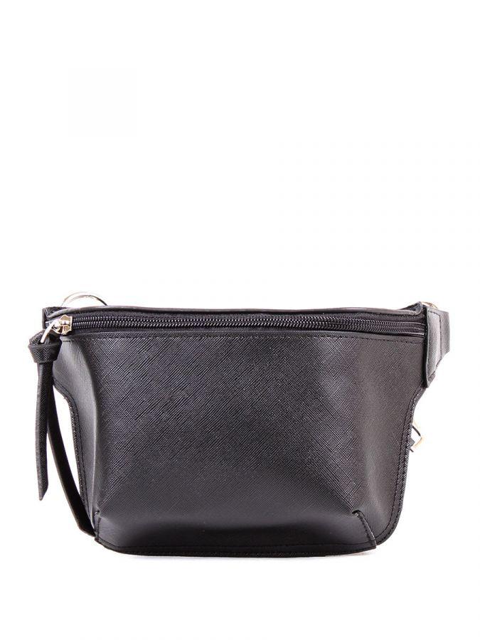 Чёрная поясная сумка