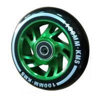 Колесо КМС 100 мм с алюминиевым диском зеленое