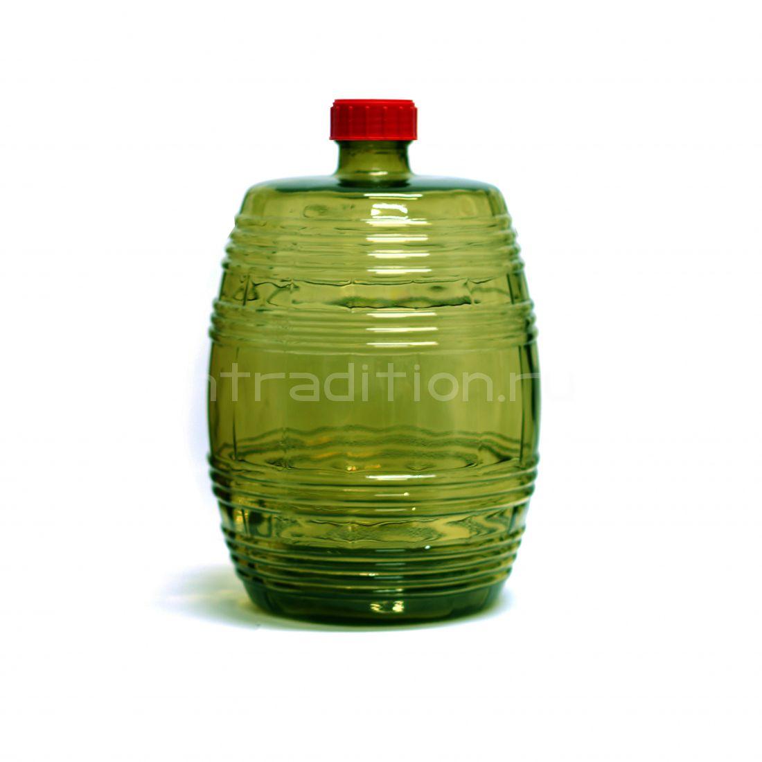 Бутыль Бариле зеленое стекло, 10 л