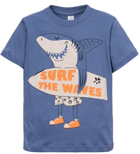 Футболка для мальчиков 6-9 лет Sladikmladik c акулой
