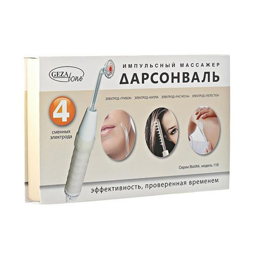 Дарсонваль для лица и волос с 4-мя сменными насадками Biolift4 118 (BT-118) Gezatone