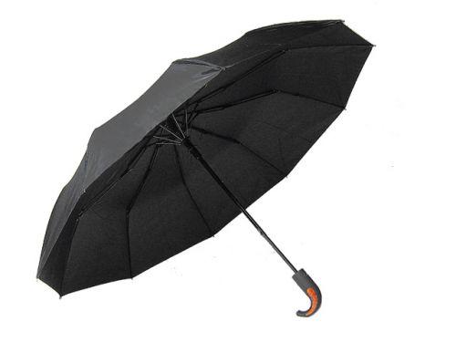 Зонт мужской (полу-автомат) черный