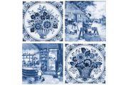 Фландрия голубой Декор 14-03-61-136-3 20х20