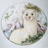 "Cross stitch pattern ""Weasel""."