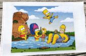 "Cross stitch pattern ""The simpsons""."