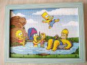 Схема для вышивки крестом Симпсоны. Отшив.