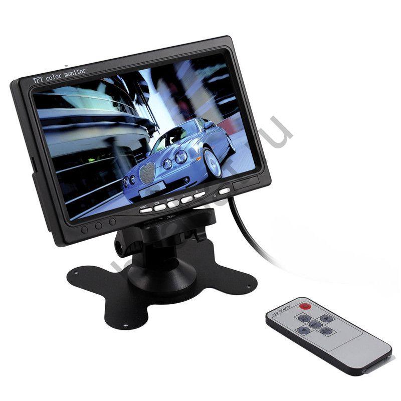 7 дюйма цветной TFT LCD 2 видеовхода монитора автомобиля