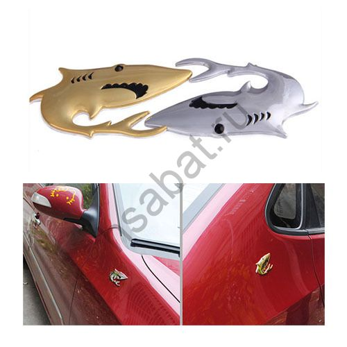 "3D наклейка на автомобиль ""Акула"""