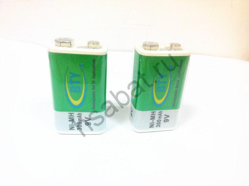 Аккумулятор  BTY 9V 300mAh (2 шт.)