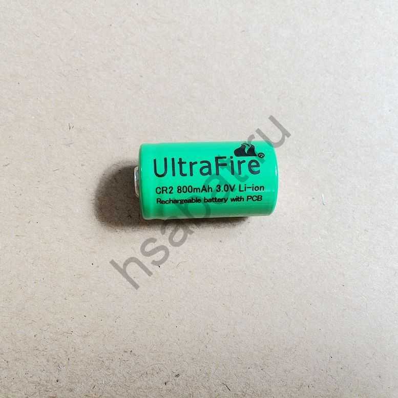 Зарядное + CR2 ULTRAFIRE  аккумуляторы 3.0 V, 800 mAh (2 шт.)