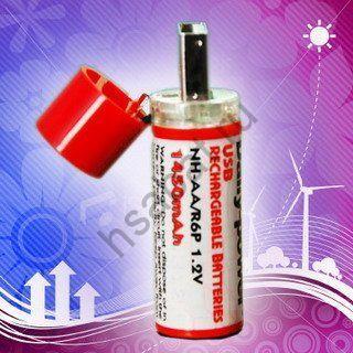USB аккумуляторы AA 1450mAh