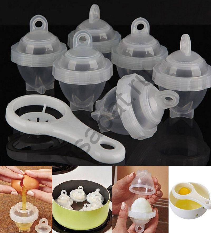 Контейнеры для варки яиц без скорлупы + сепаратор.