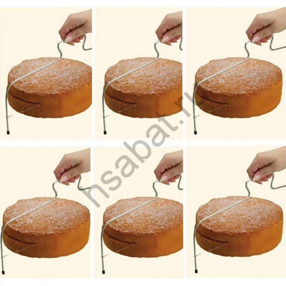 Устройство для нарезки торта 2 регулируемые струны  ZK55600