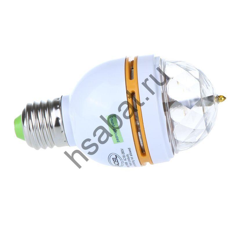Вращающееся  лампа W E27 RGB LED