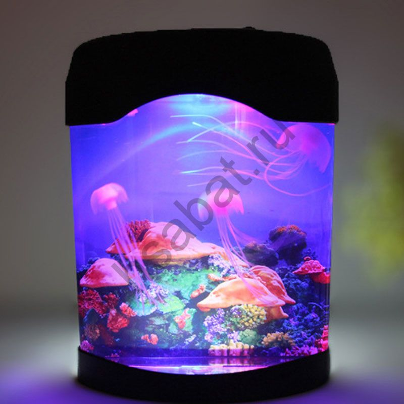 Ночник-аквариум с электронными медузами