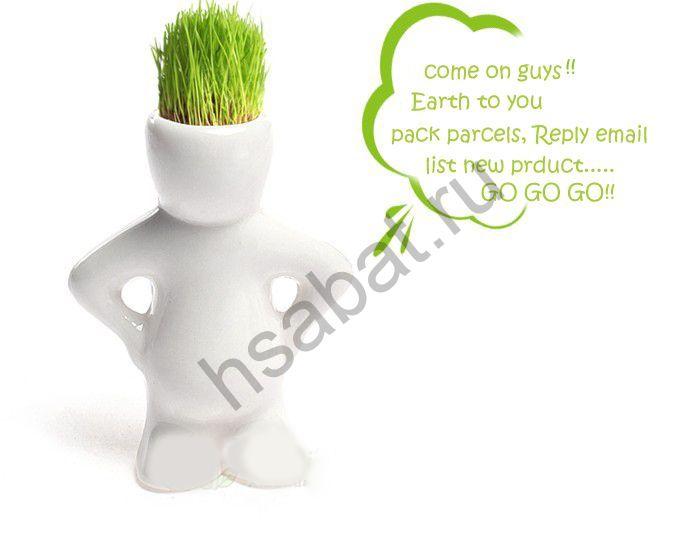 Травяные человечки Hair Man Plant