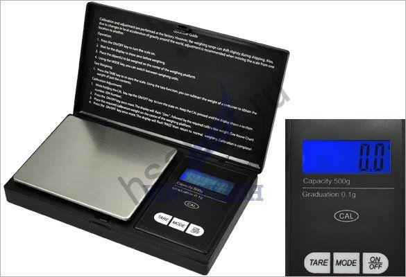 Весы электронные ювелирные карманные 0.1г / 500г