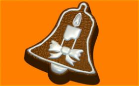 Форма для мыла   Пряник колокол