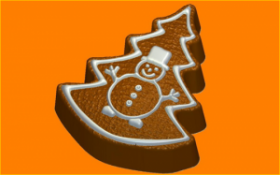 Форма для мыла   Пряник ёлка
