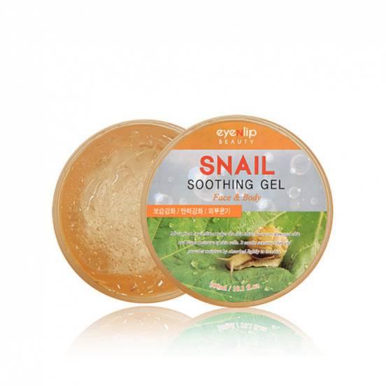 АКЦИЯ! EYENLIP  Гель для тела улиточный Snail Soothing Gel 300ml 300мл