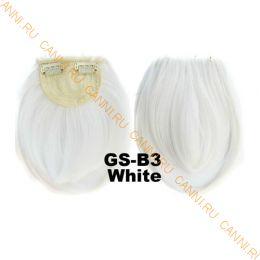 Искусственные термостойкие волосы - Челка #white - 30 гр.