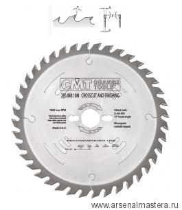 CMT 285.040.10H Диск пильный 250x20x3,2/2,2 1 15гр 10гр ATB Z40