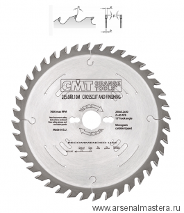 CMT 285.060.10M Диск пильный 250x30x3,2/2,2 10гр 15° ATB Z60