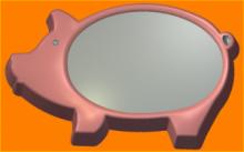 Форма для мыла   Свинка
