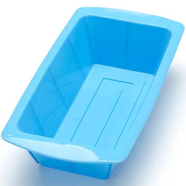 Силиконовая форма для выпечки прямоугольная, цвет синий