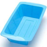Силиконовая форма для выпечки прямоугольная, цвет синий (1)