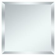Квадратная зеркальная серебряная матовая плитка с фацетом 10мм КЗСм1-01 18х18