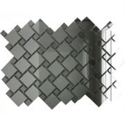 Мозаика зеркальная Серебро + Графит С70Г30 ДСТ с чипом 30x30 (2,5х2,5 и 1,2х1,2)