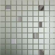 Мозаика зеркальная Серебро матовое + Графит См90Г10 ДСТ 30x30 (2,5х2,5)