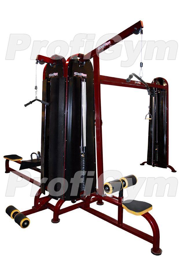 МС-0021-С Четыресторониий грузоблочный тренажер 5 стеков серия Rubin Premium