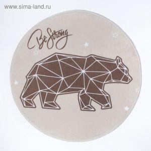 """Ковер детский Крошка Я """"Strong bear"""", d = 70см, велюр, поролон 400г/м2   3922862"""