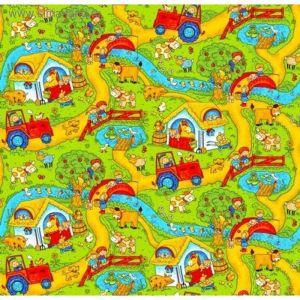 Палас принт  Каникулы, размер 150х200 см, цвет зеленый, полиамид 2274320
