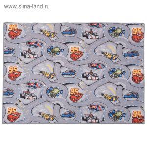 Палас принт Гонки 900, размер 150х200 см, цвет серый, полиамид 3341643