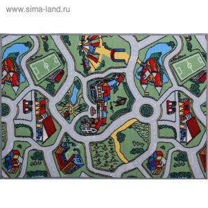 Палас принт Лунапарк, размер 120х100 см, цвет зелёный, полиамид 1408348