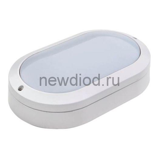 Светильник светодиодный влагозащищенный 10W 5000K IP54 1200Лм белый овал Uniel