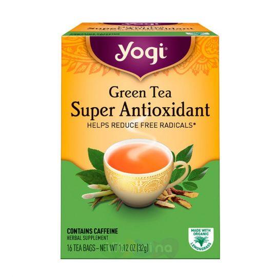 Yogi Tea Зеленый чай Супер Антиоксидант, 16 пакетиков