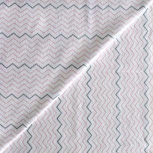 Лоскут трикотажной ткани Шеврон на белом