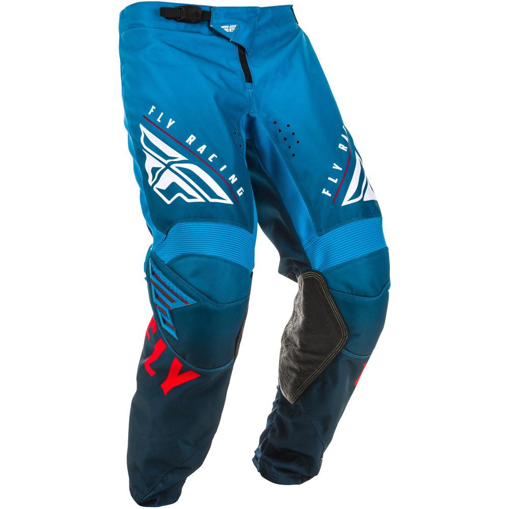 Fly - 2020 Kinetic K220 Blue/White/Red штаны, сине-бело-красные