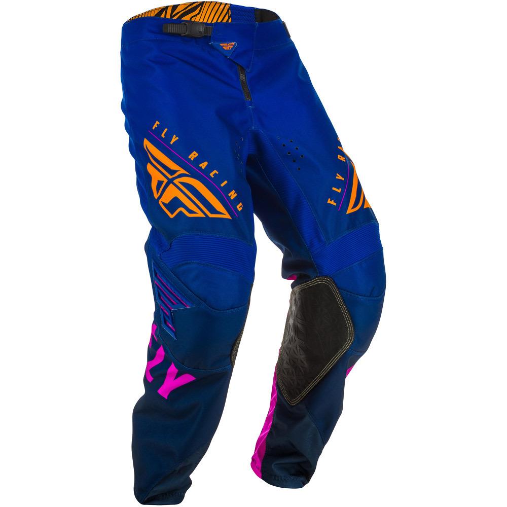 Fly - 2020 Kinetic K220 Midnight/Blue/Orange штаны, сине-оранжевые