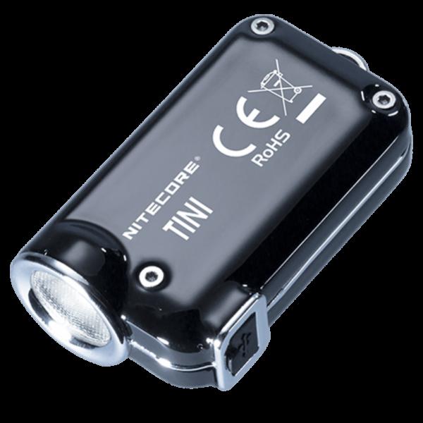 Мини-наключный фонарь Nitecore TINI SS Черный Глянец