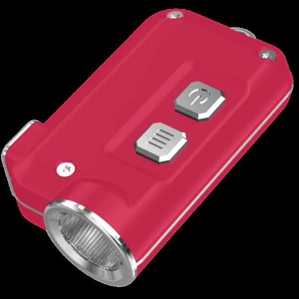 Мощный фонарь-наключник Nitecore TINI Красный