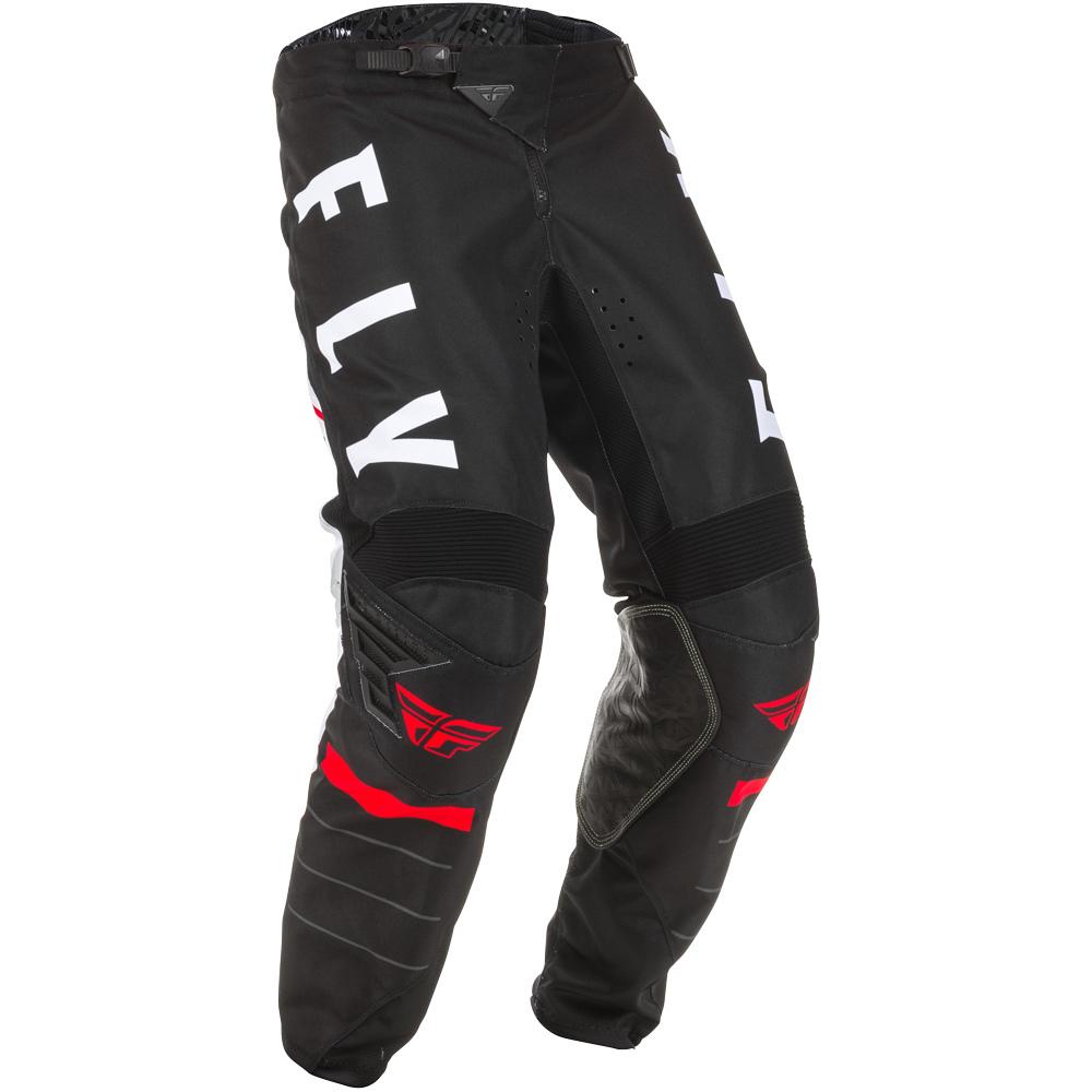 Fly - 2020 Kinetic K120 Black/White/Red штаны, черно-бело-красные